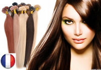 50-200 EXTENSION DE CHEVEUX POSE A CHAUD REMY HAIR 100% NATUREL 49-60CM U TIP 3A