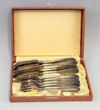 99830227 Versilbertes Fischbesteck 90er Auflage Mitte 20. Jh. 5 Gabeln 6 Messer