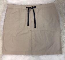 Tommy Hilfiger Plus Womens Straight Knee-Length Skirt SZ 16 Beige