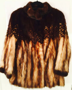 ABSOLUTELY STUNNING SABLE FUR JACKET AMAZING DESIGN DETAIL UNIQUE & VERY SPECIAL