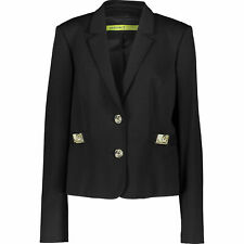 VERSACE JEANS Women's Black Gold Badge Blazer Jacket, UK 10 12 14 / IT 42 44 46