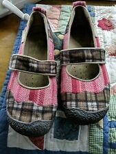 Keens Woman's Harvest Plaid Patchwork Mary Jane Size 7.5