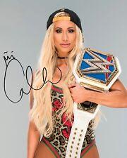 CARMELLA #1 (WWE) - 10x8 PRE PRINTED LAB QUALITY PHOTO (SIGNED) (REPRINT)