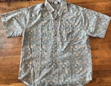 Vintage O'Neill Men's Button Down Camp Surf Shirt S/S Size XL Reverse Print