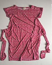 Michael Kors Ikat Print PINK Medium Wrap Waist Tie sheath dress Size M