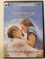 THE NOTEBOOK (DVD, 2004) Ryan Gosling, Rachael McAdams