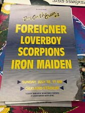 Iron Maiden Scorpions Foreigner 1986 DAY ON THE GREEN #2 POSTER Bill Graham