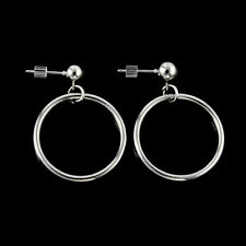 Retro Women Gold Silver Plated Big Circle Smooth Large Ring Hoop Earrings XMAS
