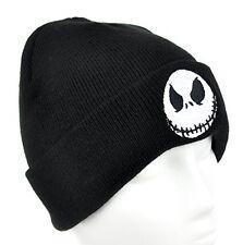 Jack Skellington Nightmare Before Christmas Beanie Knit Hat Evil Grin cuffed