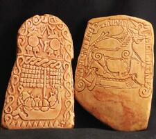 DRAGON SLAYER & RAGNAROK Pair of Viking Rune Stone Replicas Sweden 800 AD