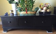 Great looking Wooden Coffee Table with 3 drawers. Contemporary look. Black