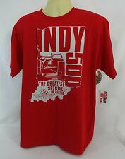 Indianapolis 500 The Greatest Spectacle In Racing Collector Red T-Shirt Large