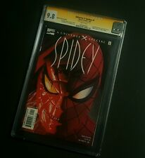 Universe X Spidey#1 RARE DynamicForces RECALLED EDITION  highest CGC ss 9.8!!!
