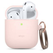 AirPods Case - elago® Silicone Case with Keychain [Lovely Pink]