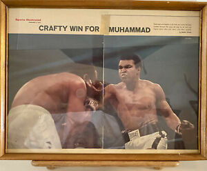 Vintage Picture Crafty Win For Muhammad Ali  Sports Illustrated Framed