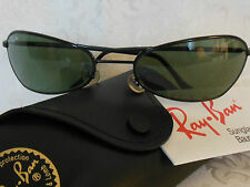 VINTAGE RAY BAN B&L SUNGLASSES CURVED GLOSS BLACK WRAP AVIATOR NEW OLD STOCK