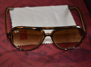 RAY-BAN CATS 5000 Classic 710/51 RB4125 UNISEX SONNENBRILLE BRAUN!!!