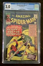 AMAZING SPIDER-MAN #11 (1964) CGC 3.0 2nd Appearance DOCTOR OCTOPUS Key Book