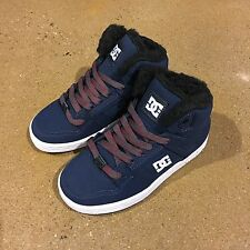 DC Rebound WNT Kids Size 12 US Youth Navy Grey BMX Skate Shoes Sneakers High Top