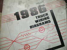 1986 ford bronco 2 ii ranger electrical wiring diagrams service schematic  manual
