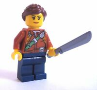 Lego JUNGLE EXPLORER Female Minifigure from 60157 New with MACHETE