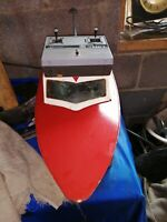 Vintage Radio controlled model boat - Early glow plug engine!   model project