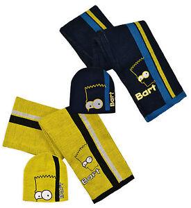 boys Bart simpsons the simpsons hat/scarf set HM4284