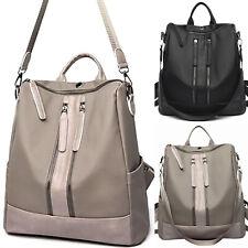 Women Travel Waterproof Oxford Backpack Rucksack Zip Up School Shoulder Bags