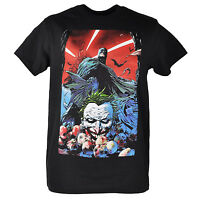 DC Comics Batman The Joker Baby Heads Graphic Superhero Black Tshirt Tee