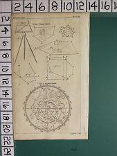 1754 antico stampa ~ Plain tavola vari diagrammi ~ Planisphere ZODIAC ASTRONOMIA