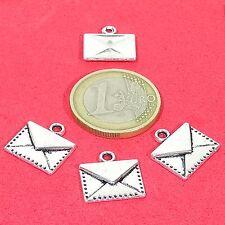 30 Colgantes 15mm T179X Carta Plata Tibetana Pendentif Ciondolo Argento Sobres