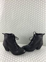 Söfft TAGAN Black Leather Lace Up/Side Zip Ankle Boots Women's Size 8.5 M