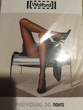 Wolford Individual 20 Tights Pantyhose Color: Admiral  Size: Large 18267 -10