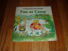 Fun at Camp by Sharon Peters 1980 Paperback First Start Book Summer Kids Book SC