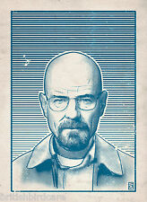 Breaking Bad (blue) Illustration by Bill McConkey Film Movie Poster A2 Size