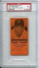1958 San Francisco Jim Davenport Call Bulletin Giants PSA 9 Pop 2