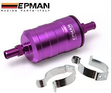 EPMAN Racing Fuel Filter Motorsport 10 Micron Paper Element High Flow Purple