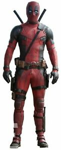 Handmade Deadpool Black Red Motorcycle Leather Suit For Men