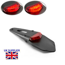 Motorcycle LED Stop Brake Taillight Supermoto Trail Bike Motocross Red Lens