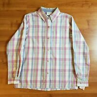 Alfred Dunner Women's Blouse Button Down Top Purple Blue Plaid Shirt NWT Size 10
