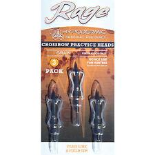 Rage Practice Heads 2-Blade Hypodermic Crossbow 125 grain 3 Pack #01170