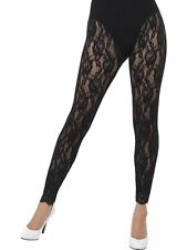 80's Lace Leggings, Adult Fancy Dress Costumes, BLACK