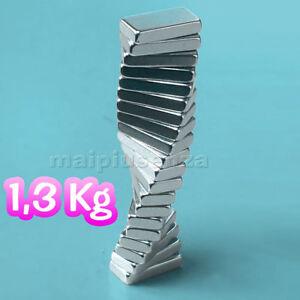 20 super MAGNETI potenti 10x5x2 magnete CALAMITA NEODIMIO calamite per FIMO