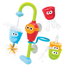 Baby Bath Toy - Flow N Fill Spout - Three Stackable Cups and Automated Spout by
