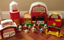Fisher Price Little People Animal Sounds Farm Barn and Silo w/ Animals Play Set