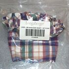 Longaberger Woven Traditions Plaid MEDIUM BARBEQUE BUDDY Basket Liner BBQ ~USA~