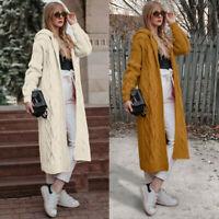 Women's Sleeve Cardigan Jumper Knitted Loose Coat Oversized Sweater Long Outwear