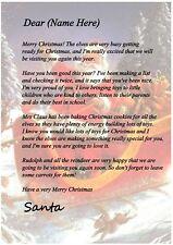 Personalised Letter From Santa Children KIds Christmas Gift Present
