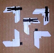 Screen Frame Corner w/ Slide Lock, White Plastic - 20 pack