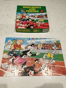 1980 Vintage Warner Bros Bugs Bunny And Friends 50 Piece Jigsaw Puzzle Disney